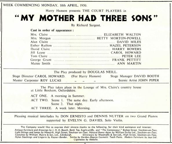 My mother had Three Sons