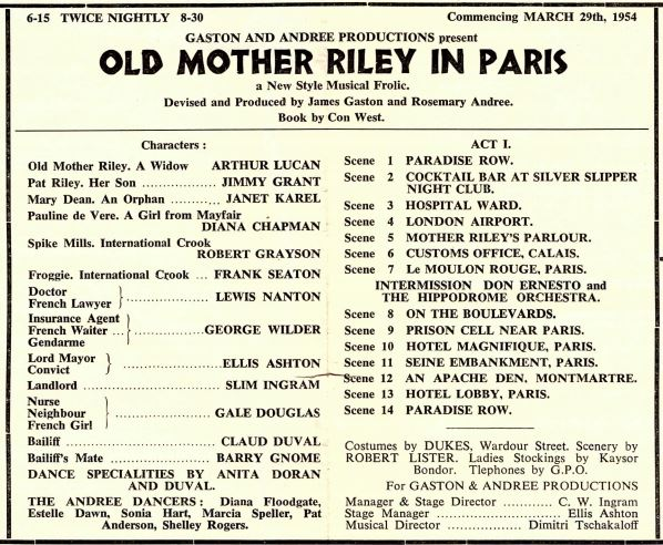 Old Mother Riley In Paris