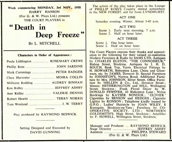 Death in Deep Freeze