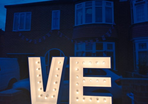Glowing Respect on VE Day